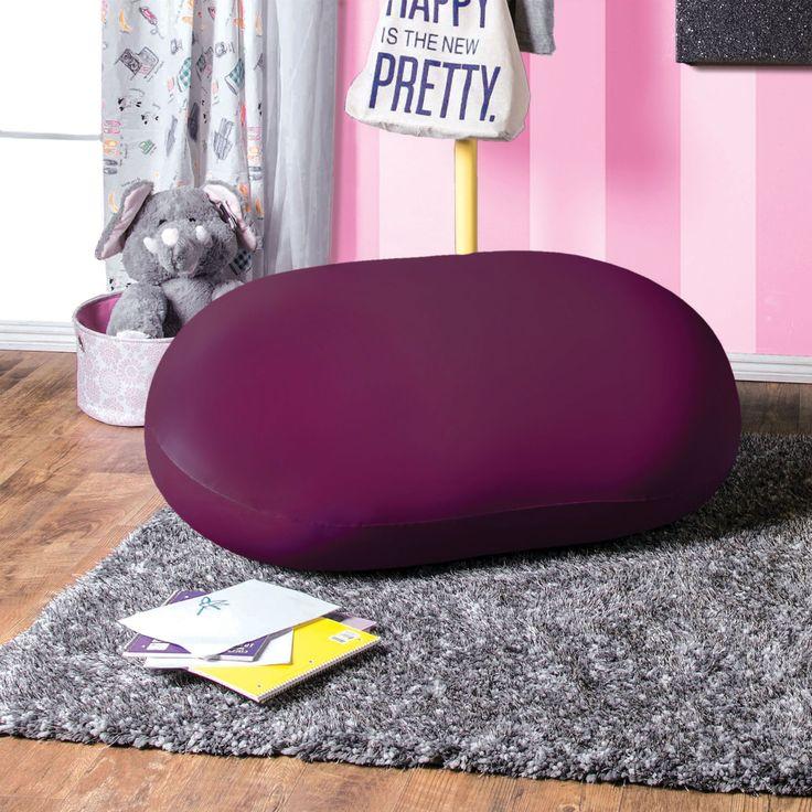 Furniture Of America Lanie Medium Expandable Bean Bag Blue Poly Synthetic Fiber