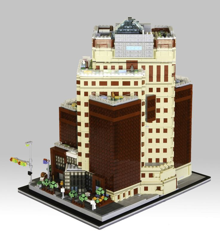 lego office building. Murray Thompson Constructed A 7500 Piece Model Of Shaw Court, 12 Story Office Building In Calgary, Canada. The Contrasting Colors Red And Tan Really Lego