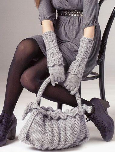 Knit bag - free pattern (rus)