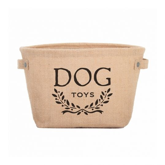 Hemp Dog Toy Storage Bag -  Tidy up with durable Hemp Dog Toy Storage from Harry Barker. Our pet toy storage bin is made of earth-friendly natural hemp with an inside coating for easy cleaning. Ideal for neatly storing your pup's ropes, squeaky toys, and balls when not in use.