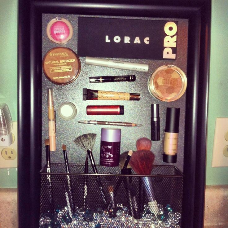 DIY makeup holder.