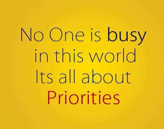 Geen tijd, geen prioriteit