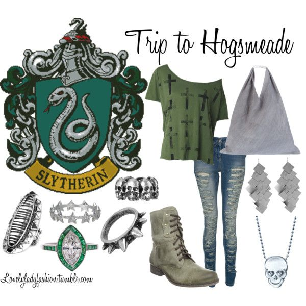 """Slytherin's Trip to Hogsmeade"" by nearlysamantha on Polyvore"