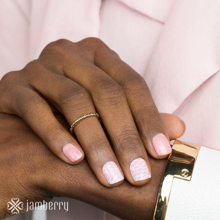 Jamberry 2016 Colour Of The Year Rose Quartz Lotus Wrap - http://thenailchest.jamberrynails.com.au