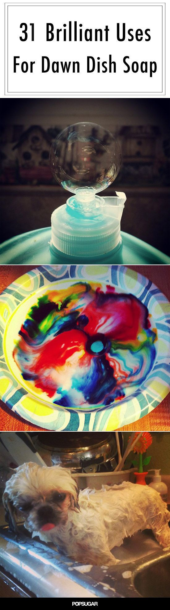 31 Brilliant Uses For Dawn Dish Soap Bottle Water Spray