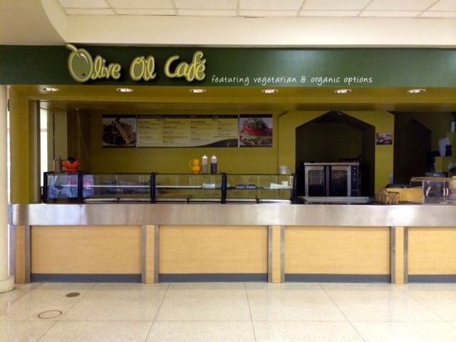 Olive Oil Cafe is located in West Commons and has delicious sandwiches and soups!