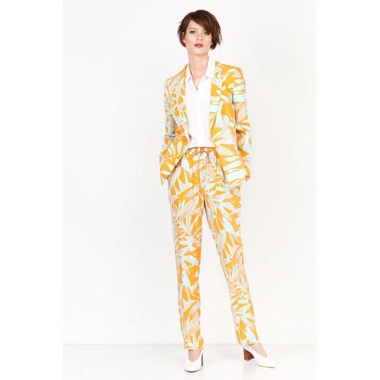 Luźne spodnie w kwiatowy deseń - PATRIZIA ARYTON
