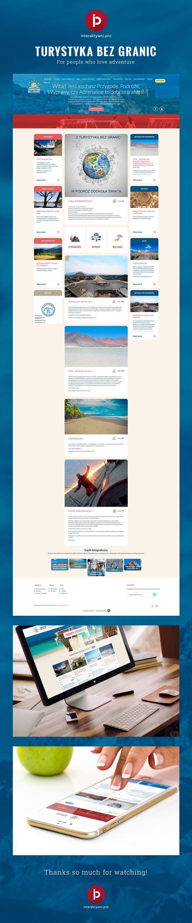 Tourist web portal Symfony PHP by interaktywni.pro www.turystykabezgranic.pl @interaktywnipro #uxdesign #website #portal #interaktywni #webdevelopment
