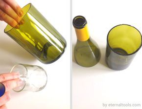 Bottle Cuttiing - How to cut a glass bottle by Eternal Tools. 4 easy steps and the minimal amount of fuss or tools. http://www.eternaltools.com/blog/bottle-cutting-how-to-cut-a-glass-bottle