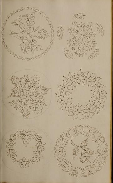 1824 Mrs. Watson's Book of Design - www.archive.org