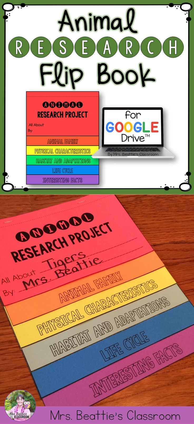 Using Google Classrooms or trying a paperless approach in your classroom? This animal research project for a Growth and Changes in Animals unit is completely digital and kids love it! Perfect for 2nd, 3rd or 4th grades! #google #googleapps #classroom #research