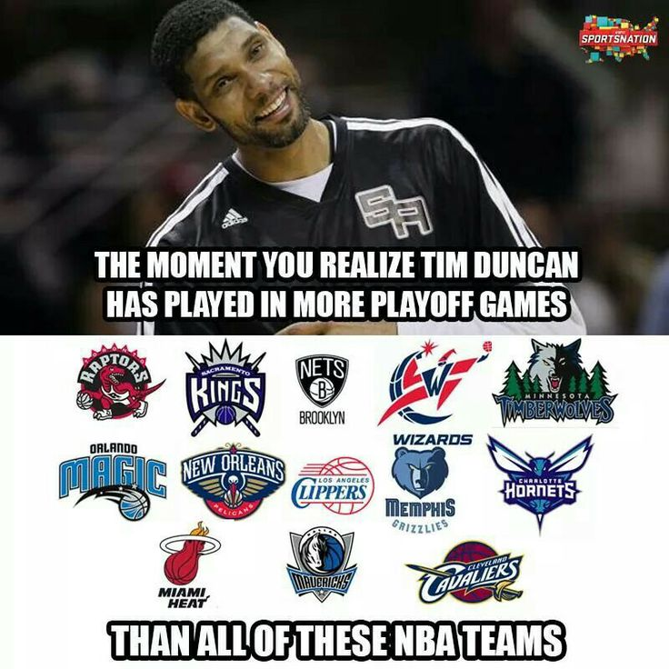 Timmy has played in more playoff games (219) than 13 franchises put together.  I <3 Duncan and all my guys!  GO SPURS GO!!!