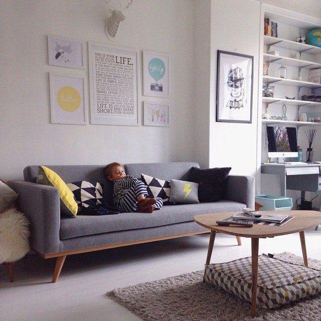 Un salon la d coration scandinave living room cozy reading corners d co int rieur salon - Idee deco salon scandinave ...