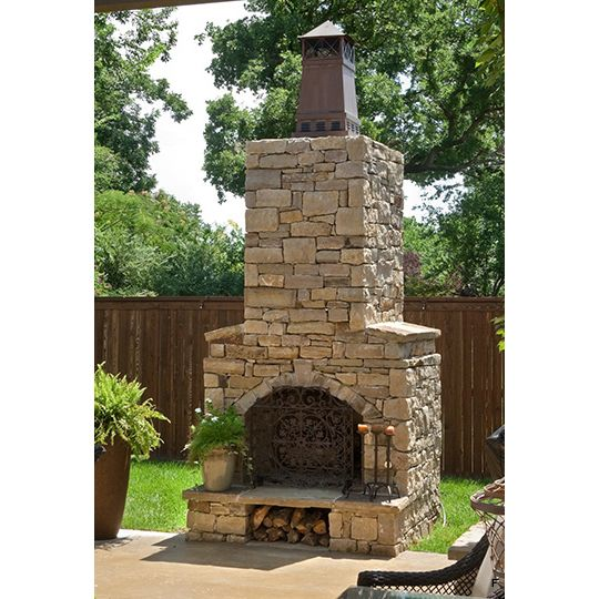 42 in firerock arched masonry outdoor wood burning for Firerock fireplaces