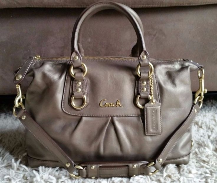 Coach ashley leather satchel handbag purse