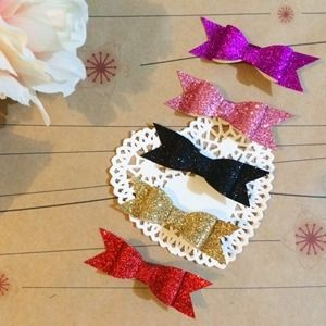 Cheeki Babi   Accessories   Hair Accessories   Glitter bows - Handmade Emporium