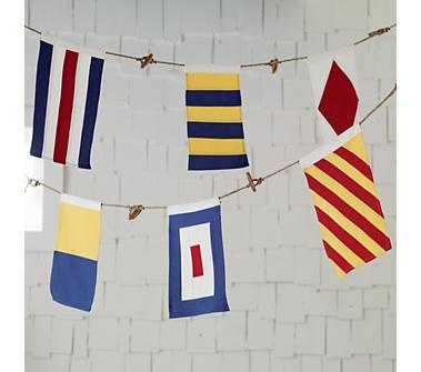 Kids Nautical Flag Banner