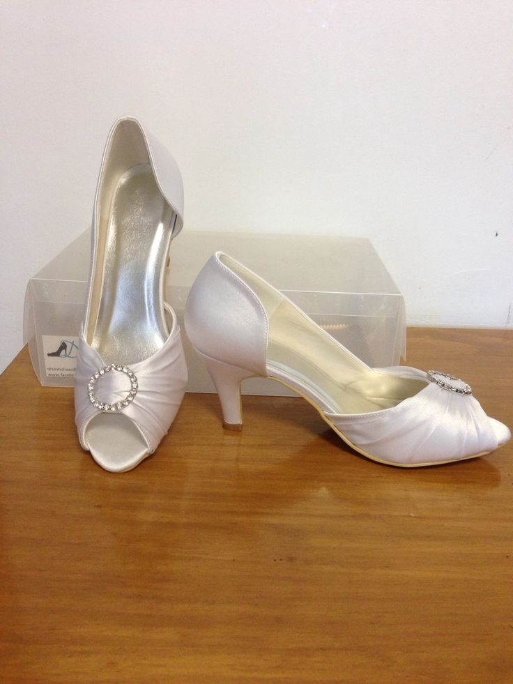Made to order model 56 White satin 8 cm heel  Size 4-11 $99.00 (includes free express post)  THESE ARE PART OF OUR CUSTOM ORDER RANGE- 26 COLOUR & FABRIC COMBINATION WITH 7 HEEL HEIGHTS www.dreemshoes.com