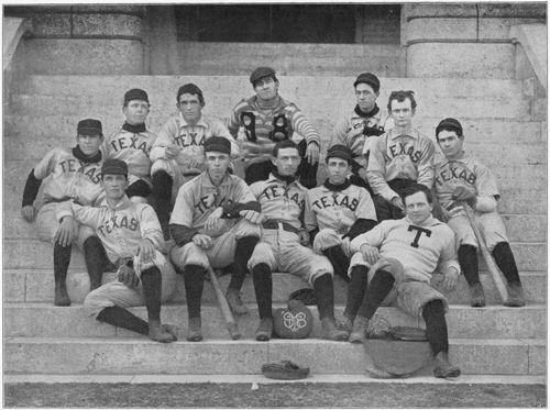 University of Texas baseball team circa 1898, from the 1898 Cactus yearbook. [Credit: UT Austin's Briscoe Center for American History]