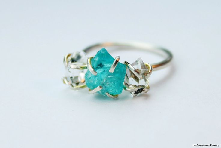 unique blue diamond engagement ring - My Engagement Ring