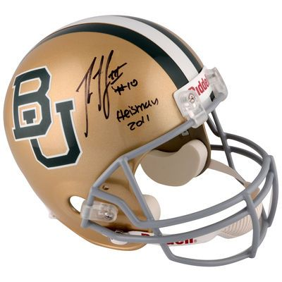 Robert Griffin III Baylor Bears Fanatics Authentic Autographed Replica Helmet with Heisman 2011 Inscription