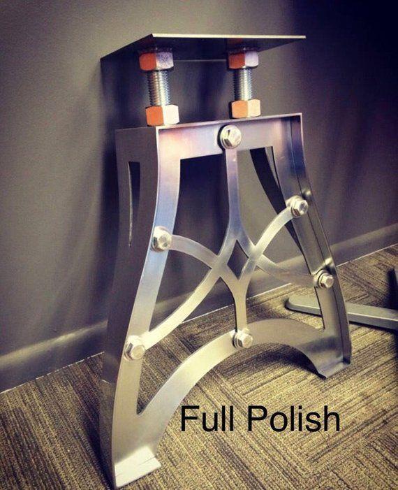 Vintage Industrial Metal Table Legs Etsy Industrial Metal Table Legs Vintage Industrial Furniture Vintage Industrial