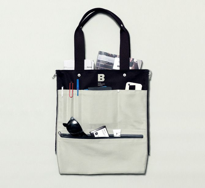 Ed BAG, the first object made by Joh & Co., is unisex tote bag – designed to be simply functional and reversible.  Varied in color combination, it can easily be matched with any type of look. It's for everyday.