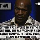 9 Evander Holyfield Facts That Does Not Include Mike Tyson Biting Part of His Ear Off Visit our site: http://ontheblacklist.net/ Like us on facebook: https:/...9 Evander Holyfield Facts That Does Not Include Mike Tyson Biting Part of His Ear Off  /via On The Black List