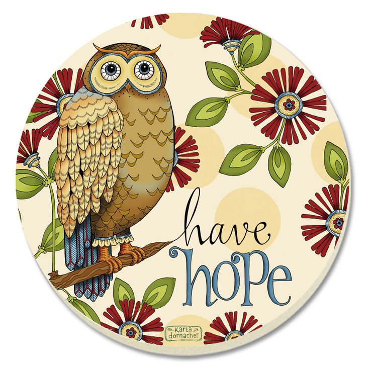 Wise Owl Coaster #WiseOwl #OwlCoaster #CounterArt