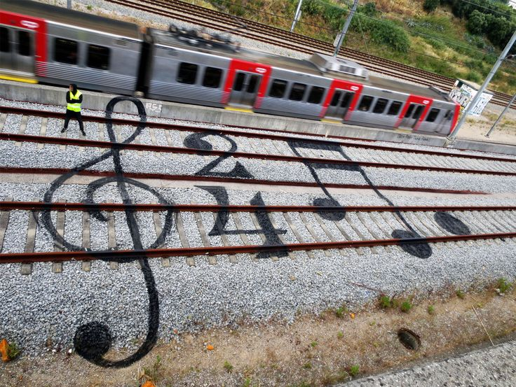 These railroad tracks have been turned into giant canvases - Lost At E Minor: For creative people