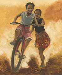 """[Deines'] rich oil paintings, with their solid figures and warm palette, are very much up to the task of giving readers the sense of life in Africa. The joy of the children...leaps off the pages.""—CM Magazine"