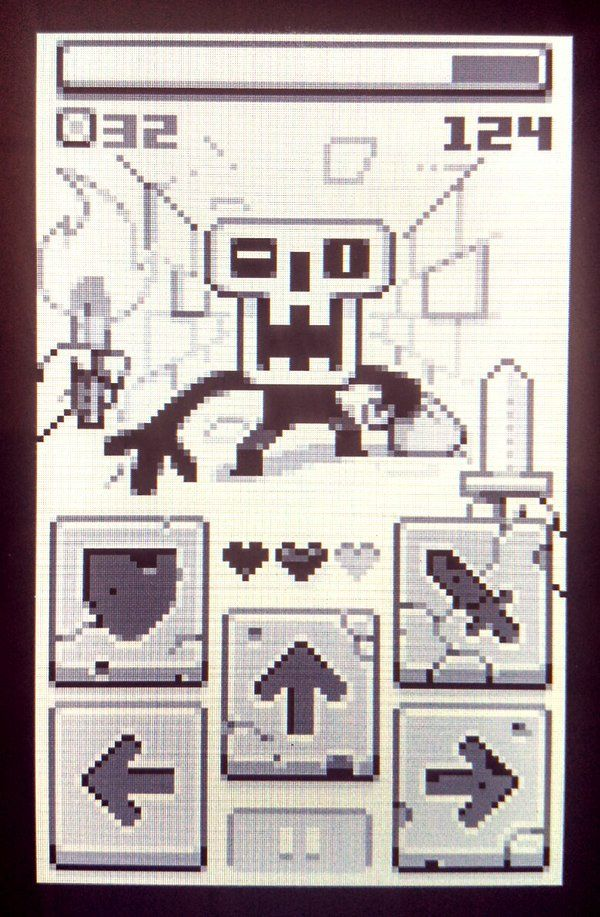 Retro Game Boy UI Interface
