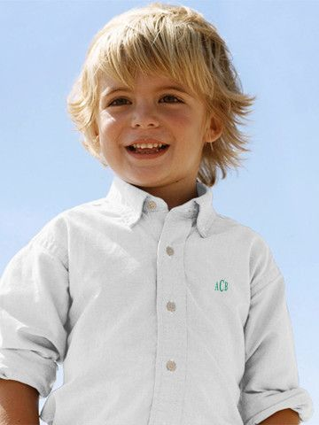 OMG this shirt is monogrammed, you could use your own monogram as a gift for the page boys to keep or personalise them all for each little boy