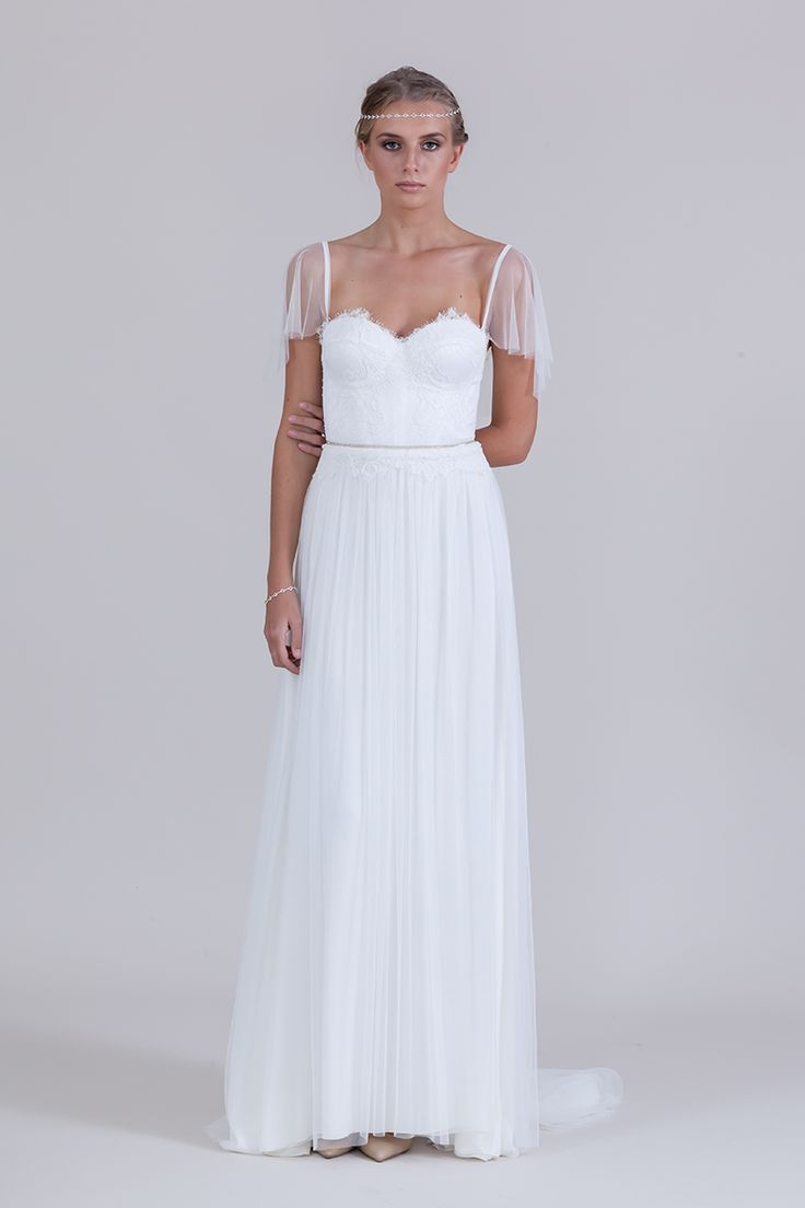 Lillia Gown withsoft tulle sleeves