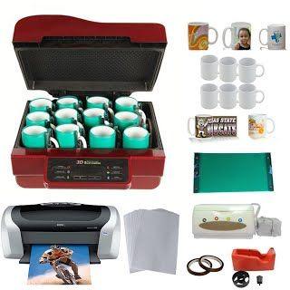 New 3D Sublimation Machine Epson Printer CISS-C88 Sublimation Paper 11oz 15oz White Mug Rubber Clamp