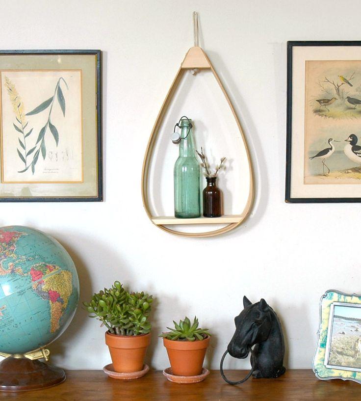 Small Wood Teardrop Shelf, 1 Shelf by The Wavertree Company  on Scoutmob