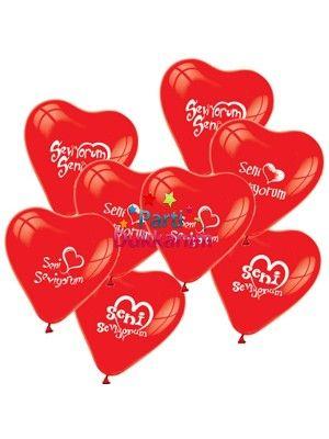 Seni Seviyorum Balonu 50 Adet fiyatı
