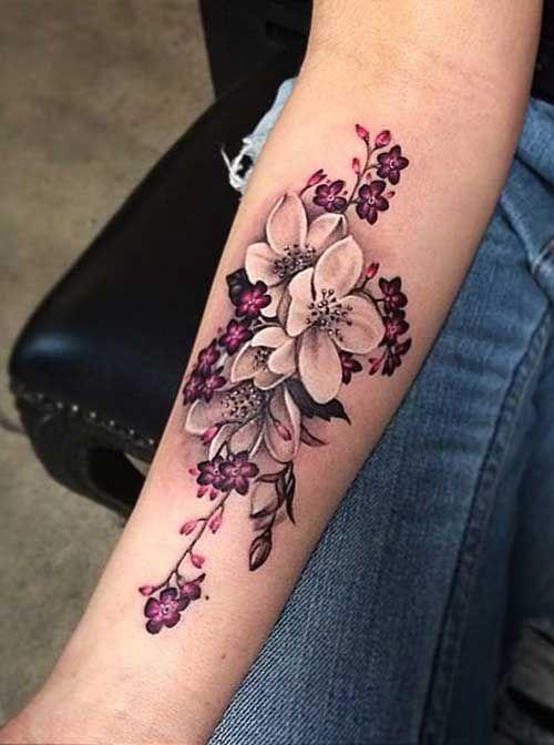 Flower Tattoo Designs #womentattooideas #FlowerTattooDesigns