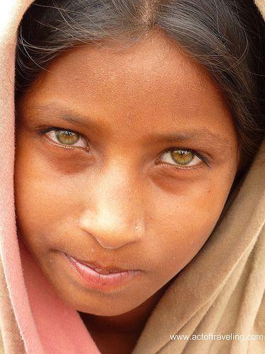 Indian girl we met in the city of Jaipur...