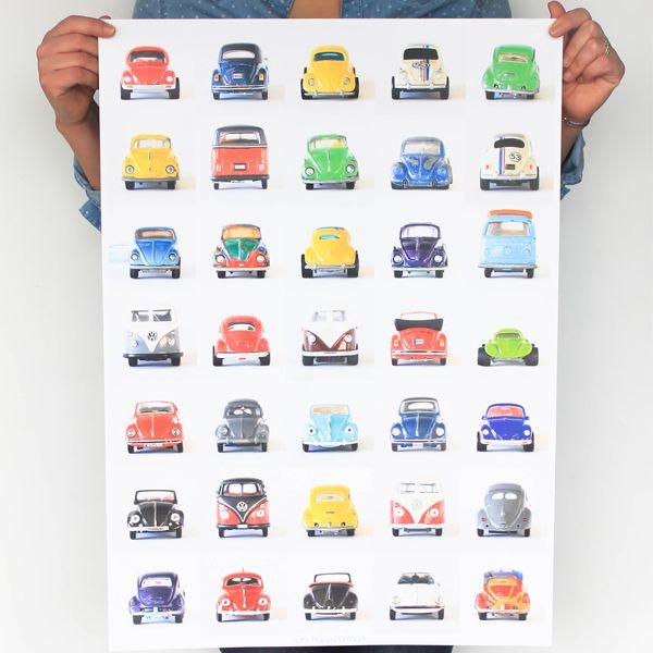 affiches garçons voitures