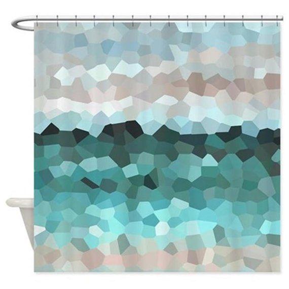 Shower Curtains Mosaic Shower Curtain Bath Mat Design 86 Mosaic