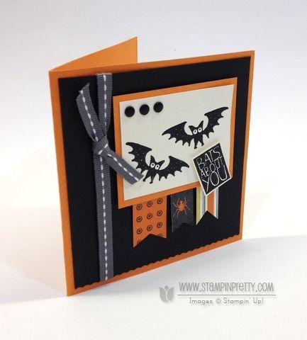 stampin up halloween hello card broom - Stampin Up Halloween Ideas