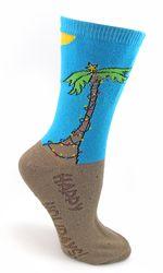 A Tropical Happy Holidays Christmas Socks