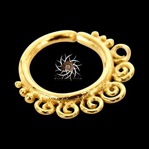 anillo de nariz de oro aro de nariz de oro anillo de la nariz