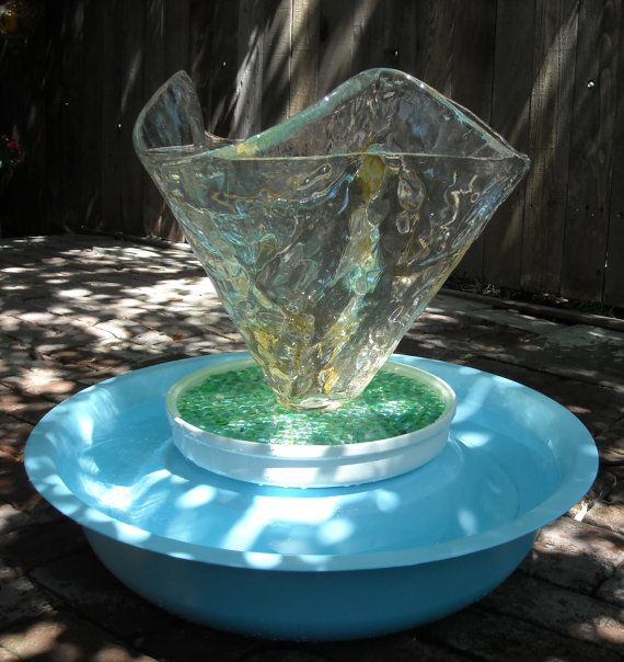 Upcycled Fountain Water Feature from Upcycled Glass ...