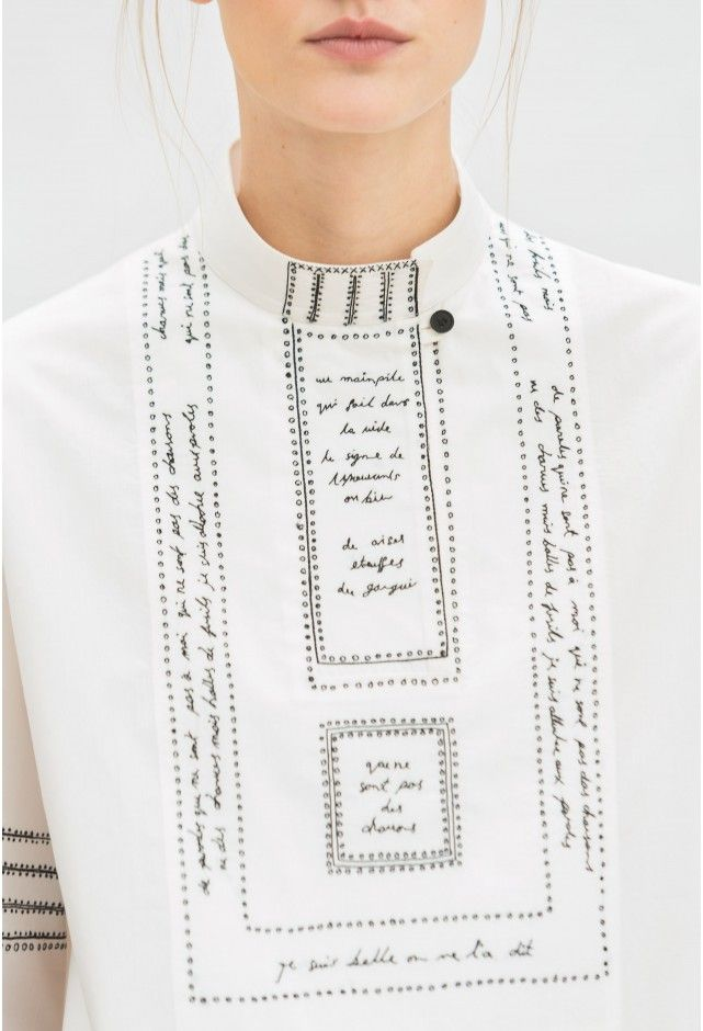 chemise brodée - Lemaire Spring 2016