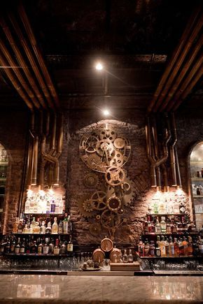 design architecture Interior Design steampunk industrial bar buenos aires Queen Victoria steampunk tendencies Argentine retrofuture Steam punk Steampunk Bar