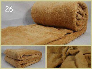 Luxusná hrejivá deka z mikrovlákna svetlo hnedej farby