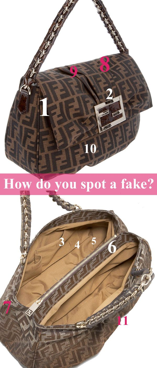 How to spot a fake Fendi bag | Stuff We Love! | Pinterest | Fendi ...