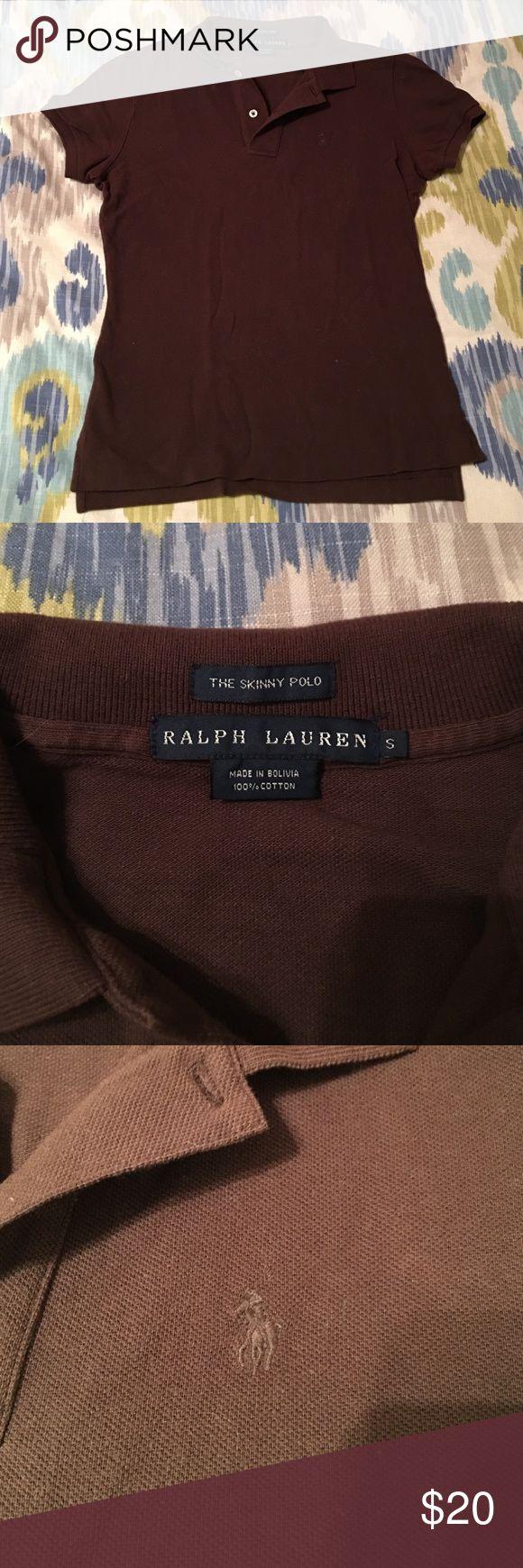Brown Ralph Lauren Polo Brown, Ralph Lauren polo Polo by Ralph Lauren Tops Button Down Shirts